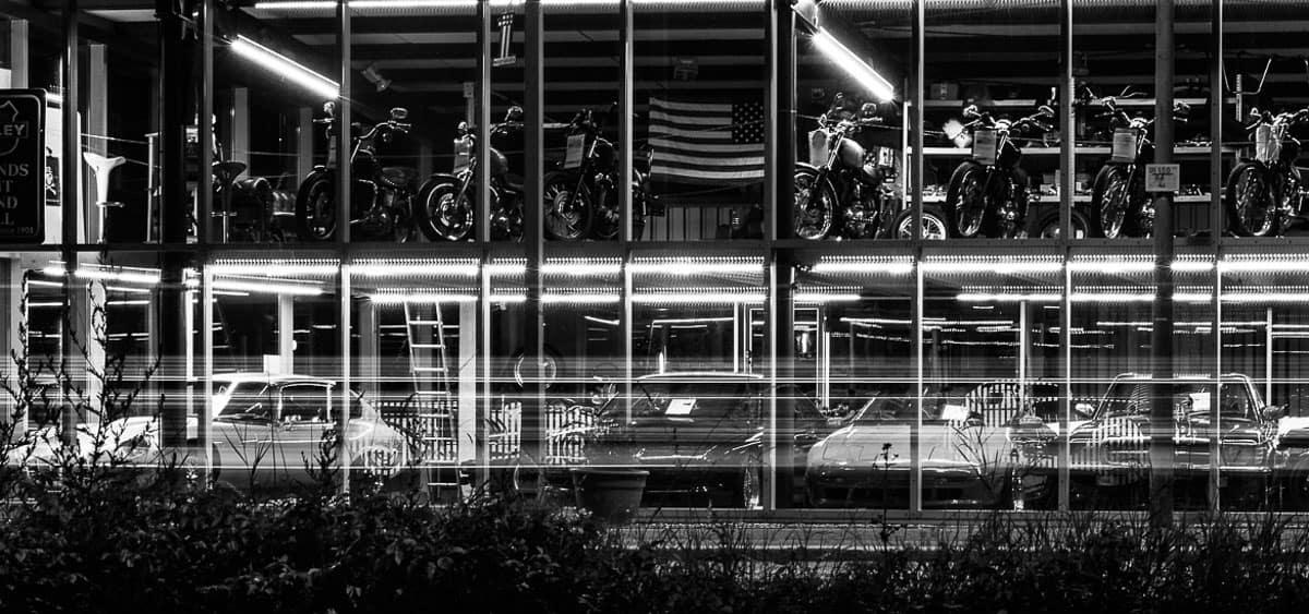 Nachtaufnahmen, Autohaus Heilbronn