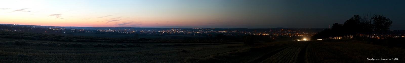 Ein lauer Sommerabend oberhalb von Dresden