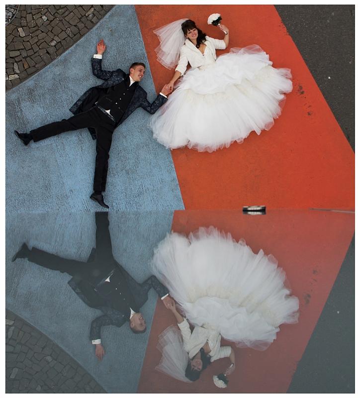 Braut & Bräutigam im Spiegel, Hochzeitsfotoworkshop