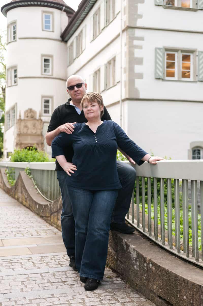 Ein Paar vor dem Schloß, Anja & Udo