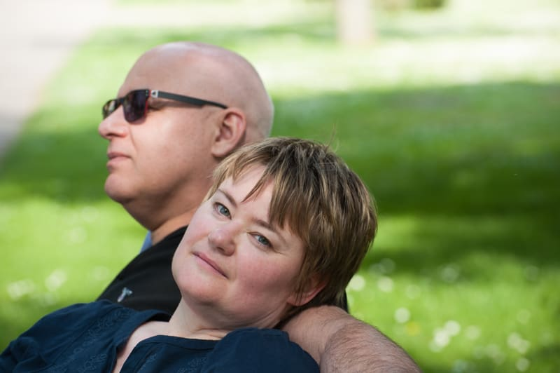 A couple on a bench, Anja & Udo
