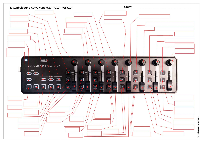 Lightroom, MIDI2LR, KORG NANO KONTROL2