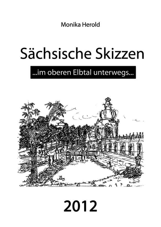 Skizze des Dresdner Zwingers mit dem Kronentor, Kalender 2012