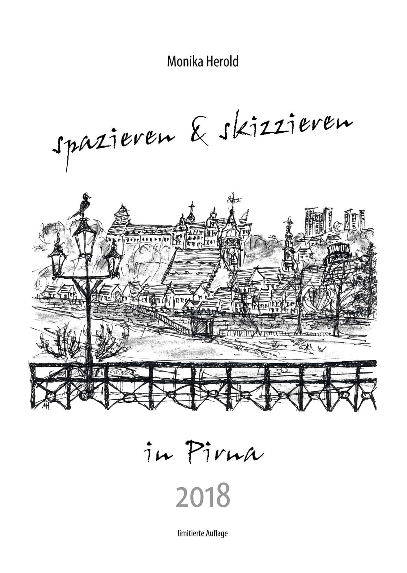 Skizze der Altstadt von Pirna, Kalender 2018, Pirna