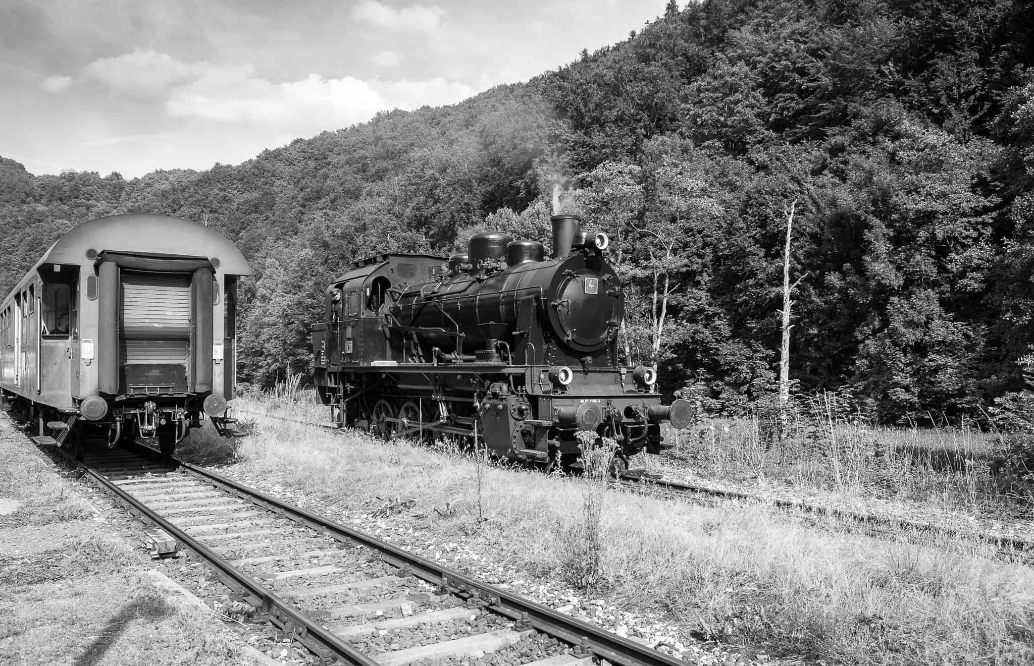 Belichtungskorrektur, Dampfbahn Fränkische Schweiz, Lok