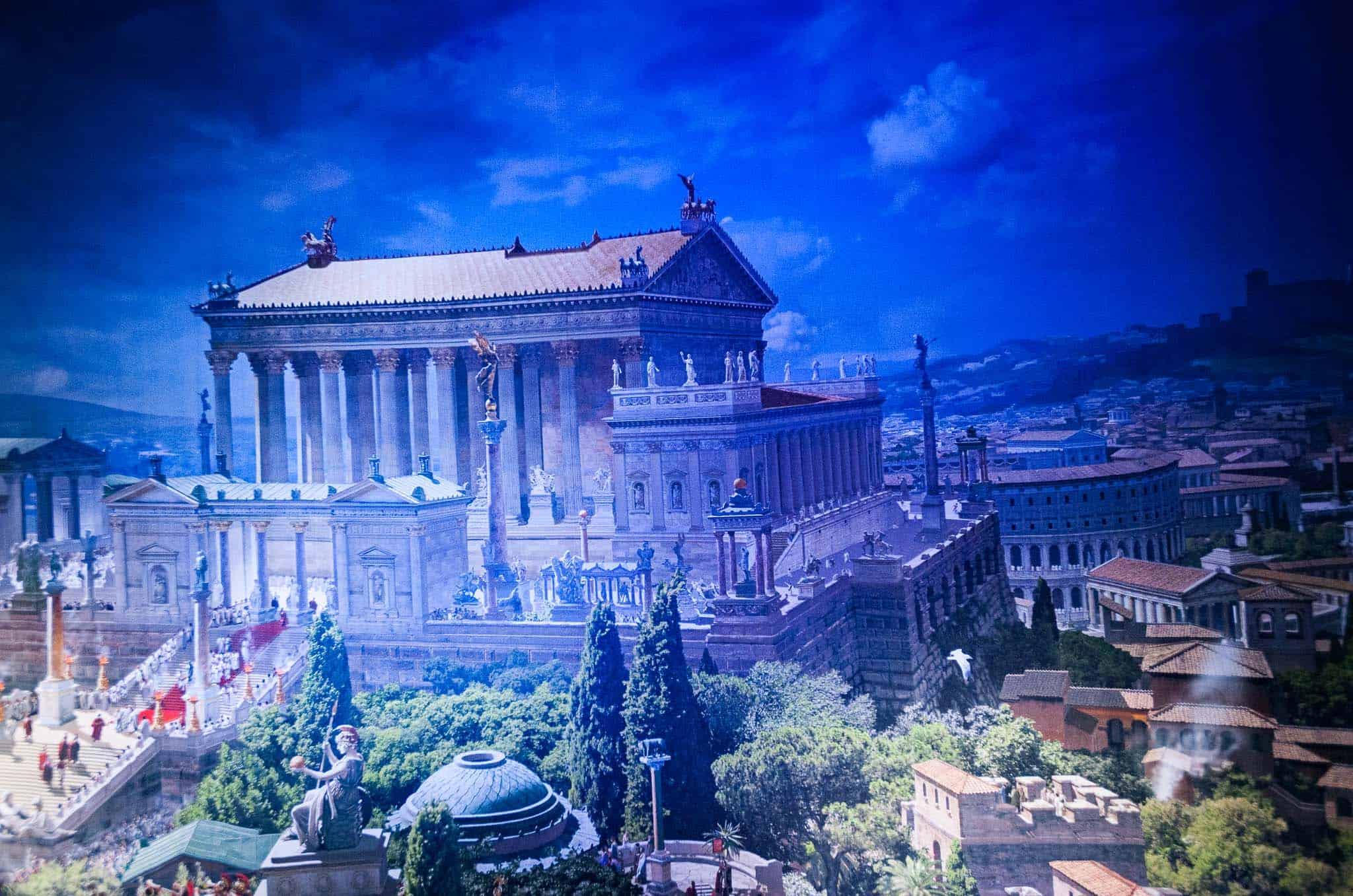 Yadegar Asisi, Römischer Tempel, 312 nach Christus