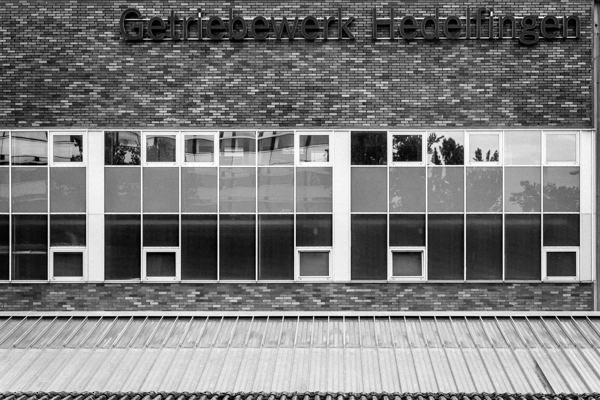 Neckarhafen, Ansicht einer Fassade