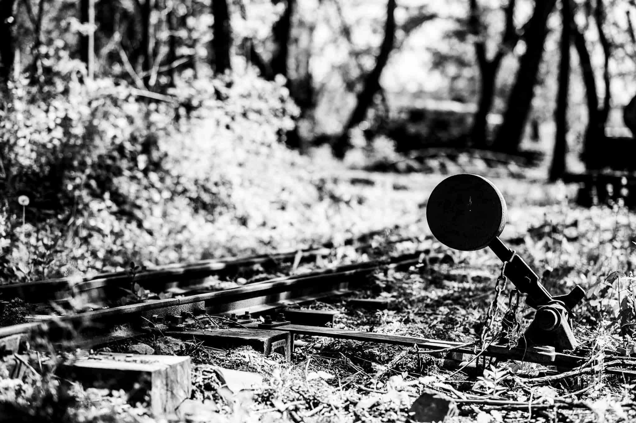 Weichenhebel, fotografieren mit Festbrennweiten