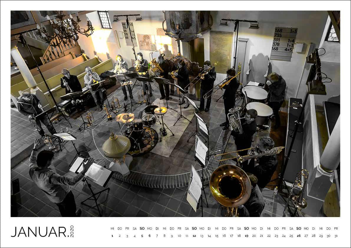 BLECHREIZ Kalender 2020, Monat Januar, Querformat A3